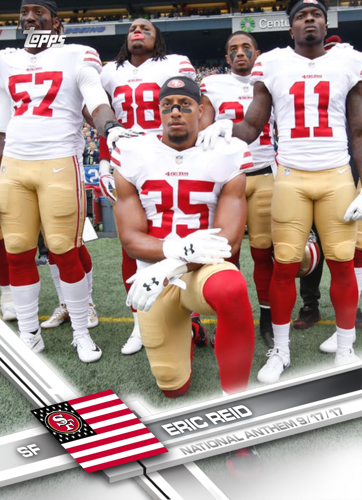 Nfl Player Says This Is What Trump Gets Wrong About Kneeling Eric Reid 49ers Players Nfl Players