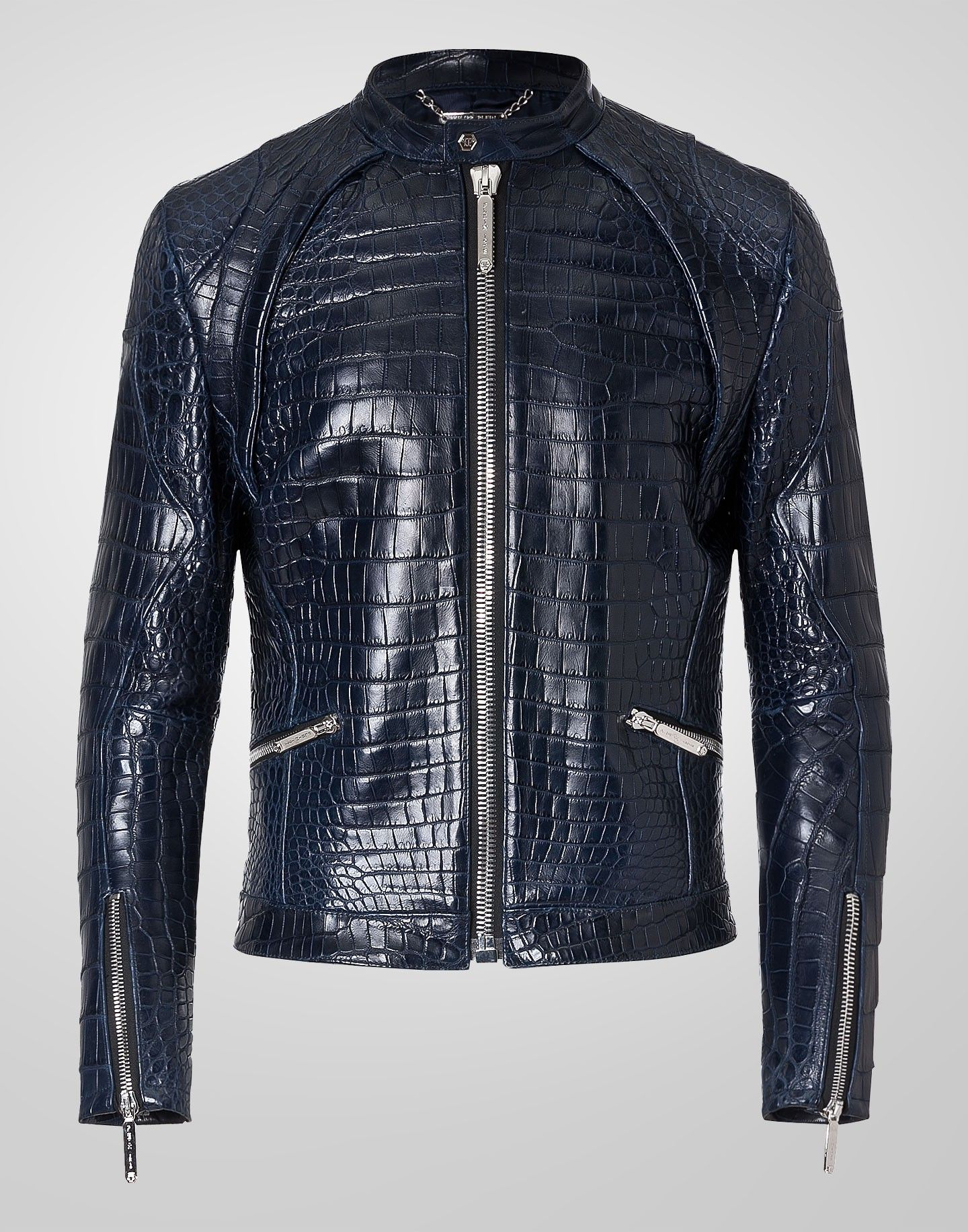 Leather Jacket Formidable In Middle Blue Leather Jacket Men