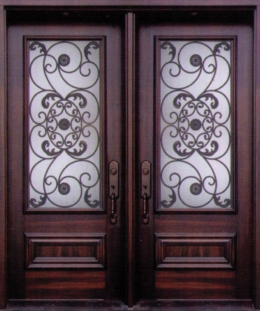 An Exquisite And Stylish Decorative Wrought Iron Front