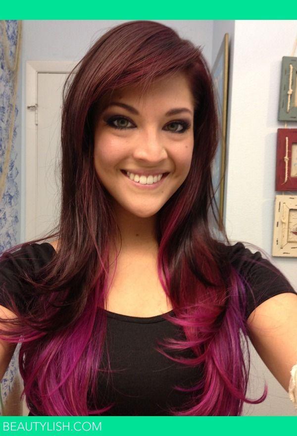 25+ Pink hair underneath brown ideas