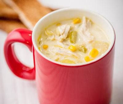 Chicken and Sweetcorn Soup - This tasty soup is great for light evening meals and weekend lunches. You can make it too! Click for the recipe »