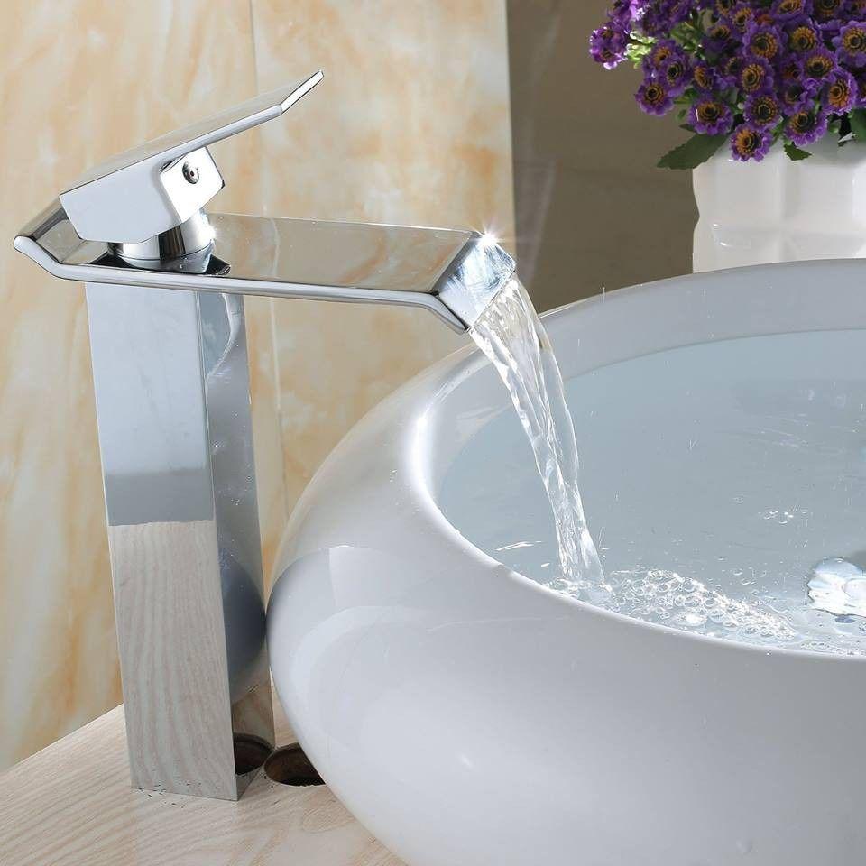 Reizende Wasserfall Armaturen Fur Bad Waschbecken Und Kleine Badezimmer Ideen Plus Badezimmer Winzig Badezimmer Waschbecken Badezimmer Chrom Badezimmer