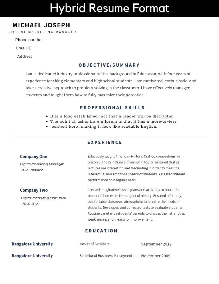 Resume Formats And Free Templates Resume Format Resume Job