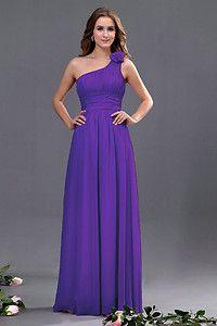Cadbury Purple Chiffon Formal Wedding Bridesmaid Party