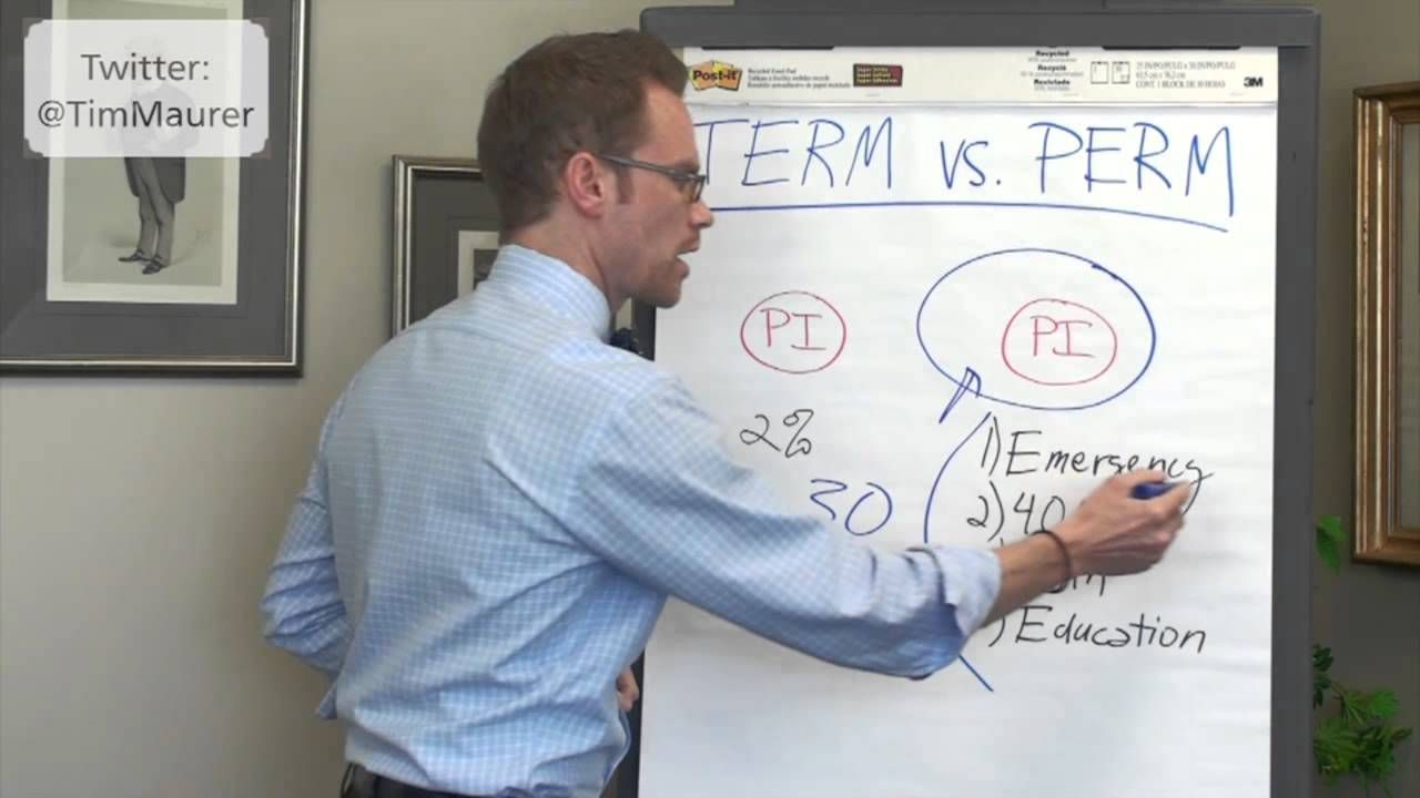 It S The Classic Insurance Debate Term Vs Perm In My Opinion