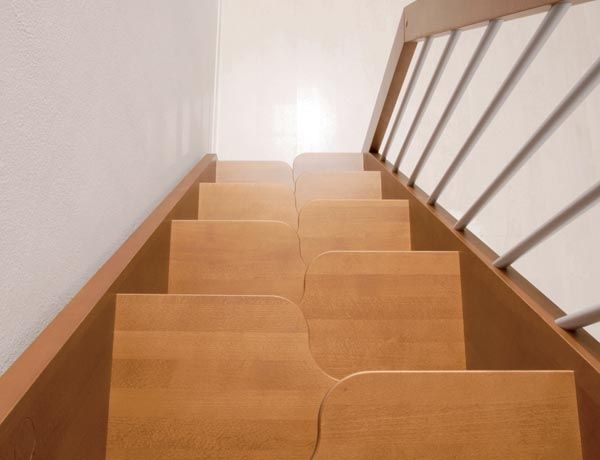 A Very European Solution To A Steep Set Of Stairs Tiny House Stairs Interior Staircase Stairs Design