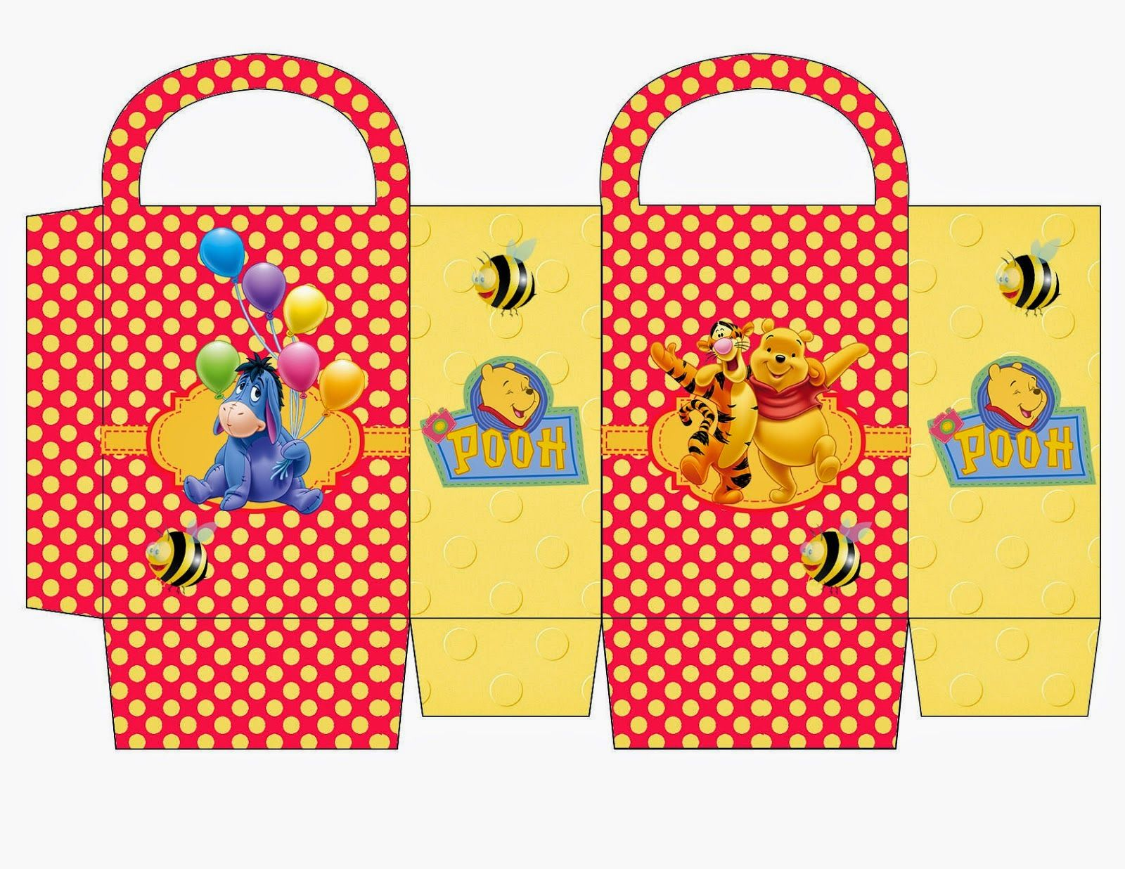 Winnie the Pooh: Free Printable Candy Paper Bag. | gift box ...