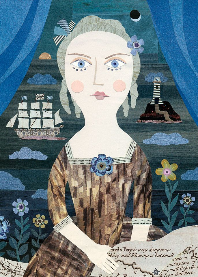 Her Three Year Wait Ended in the Most Mortifying Disappointment. Cut paper collage by Amanda White