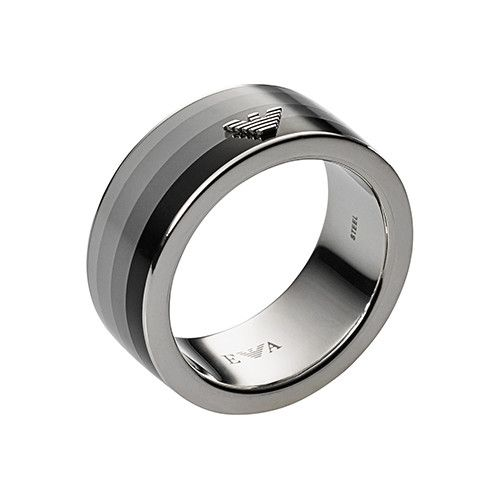 Emporio Armani Gents Stainless Steel Digital Shadow Ring Jewelry