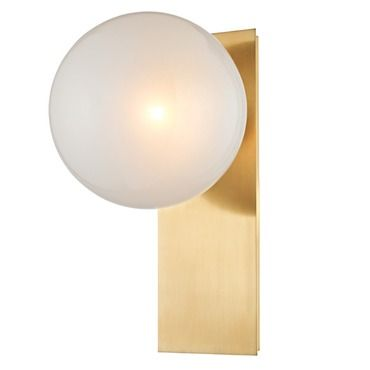 Hinsdale Wall Light By Hudson Valley Lighting 8701 Agb Glass Wall Sconce Wall Sconces Indoor Wall Sconces