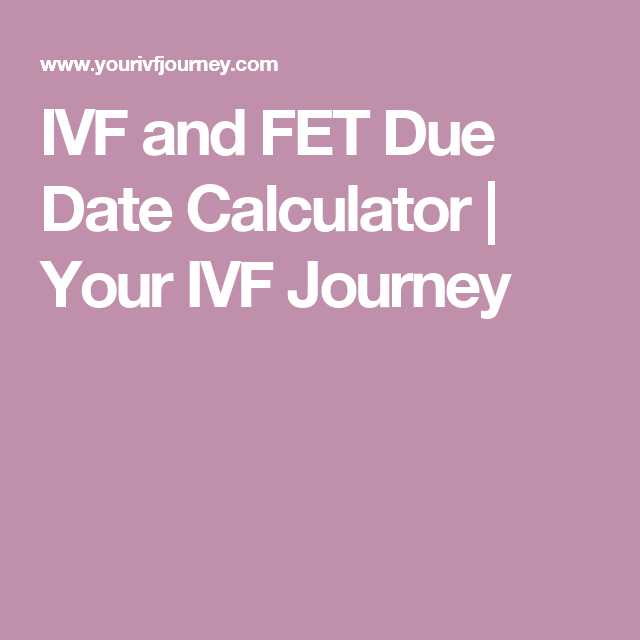 IVF dating kalkulator