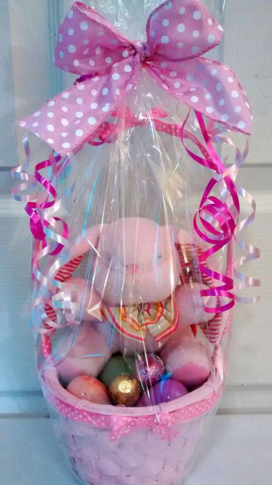 Sale now 12 ebay buy today 42 get sat see details sm pink bunny easter gift baskets negle Images