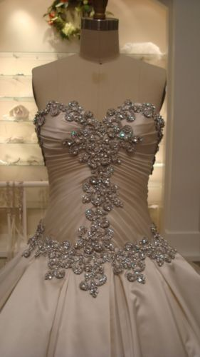 Kleinfield Gown Designer Pnina Tornai Style 4019 Color Off White Plus Crown Ebay