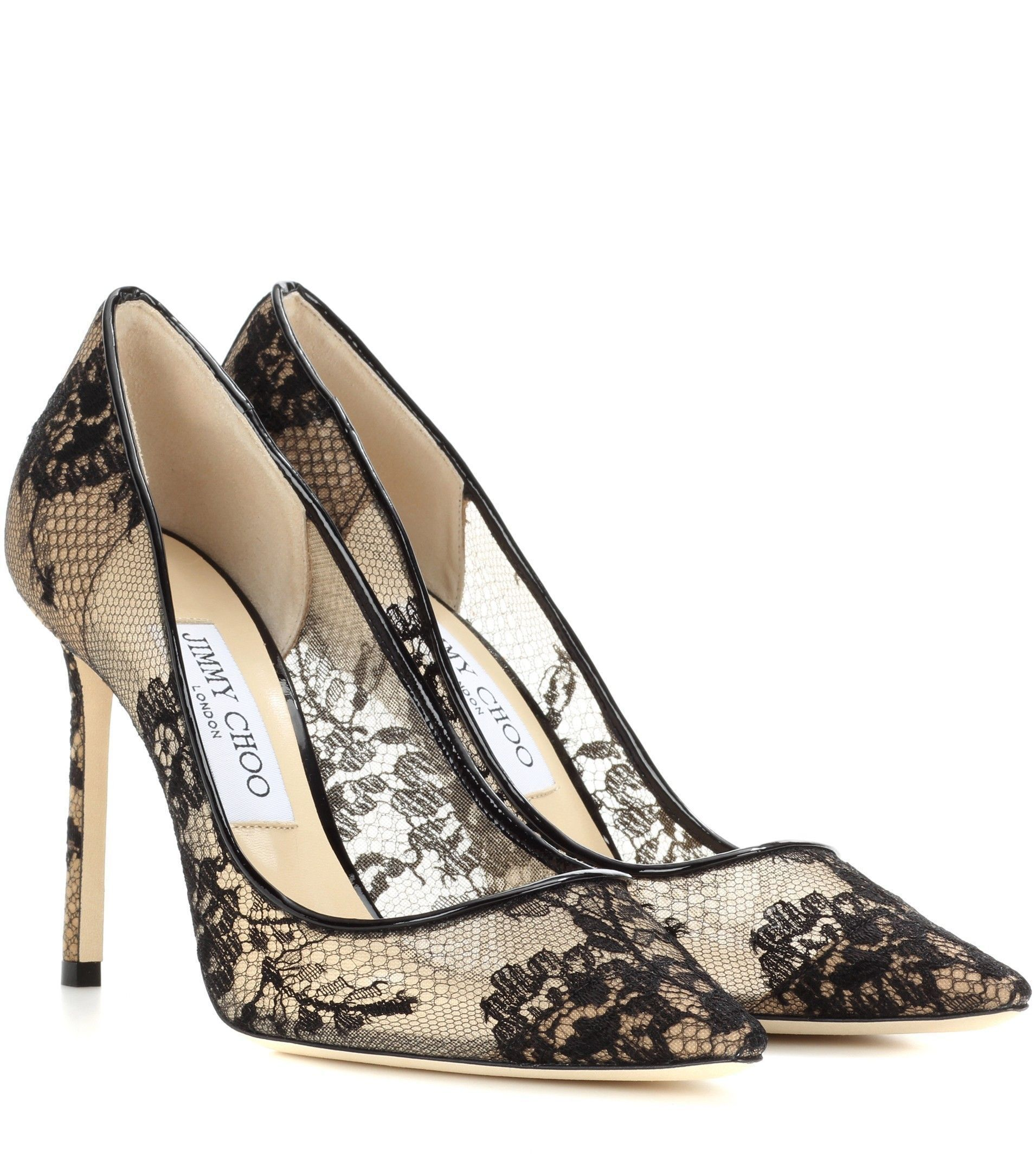 008b4628b37 Jimmy Choo Pointed Toe JIMMY CHOO ROMY 100 lace pumps  JimmyChooHeels