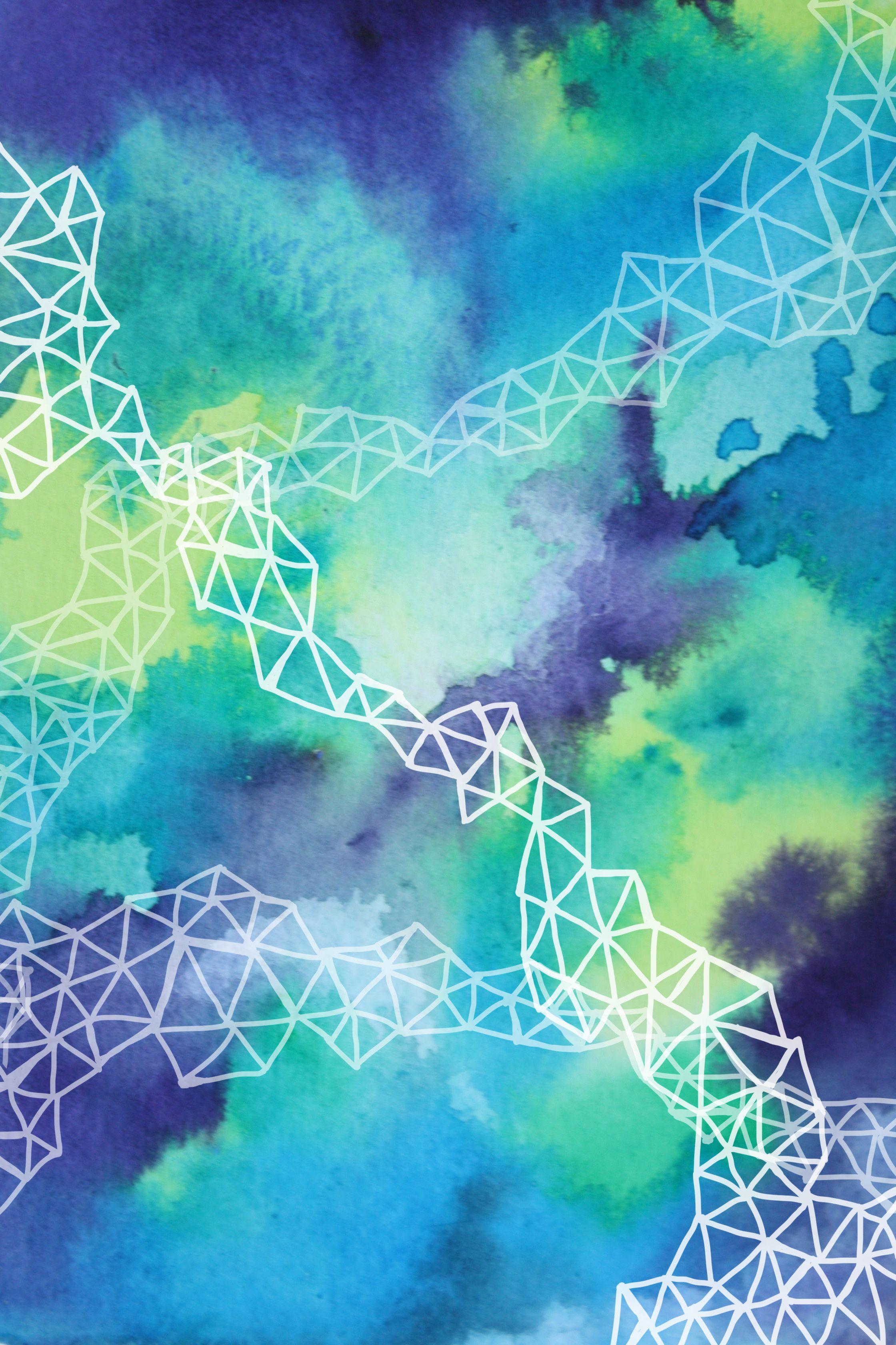 Watercolor iPhone wallpaper by Brown Bear Studio PRINTS