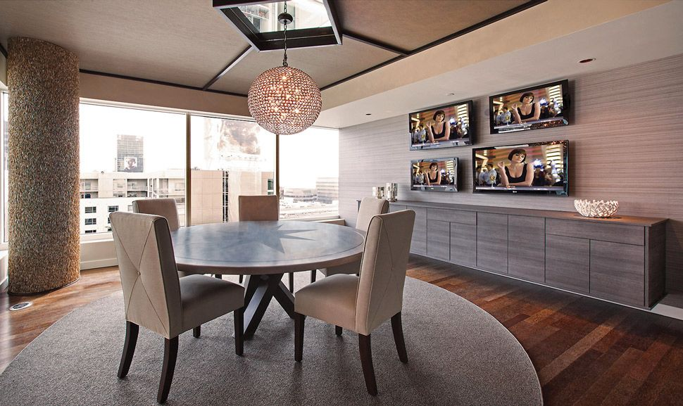 Urban Interior Design luxury hollywood penthouse with chic game room replacing bedroom