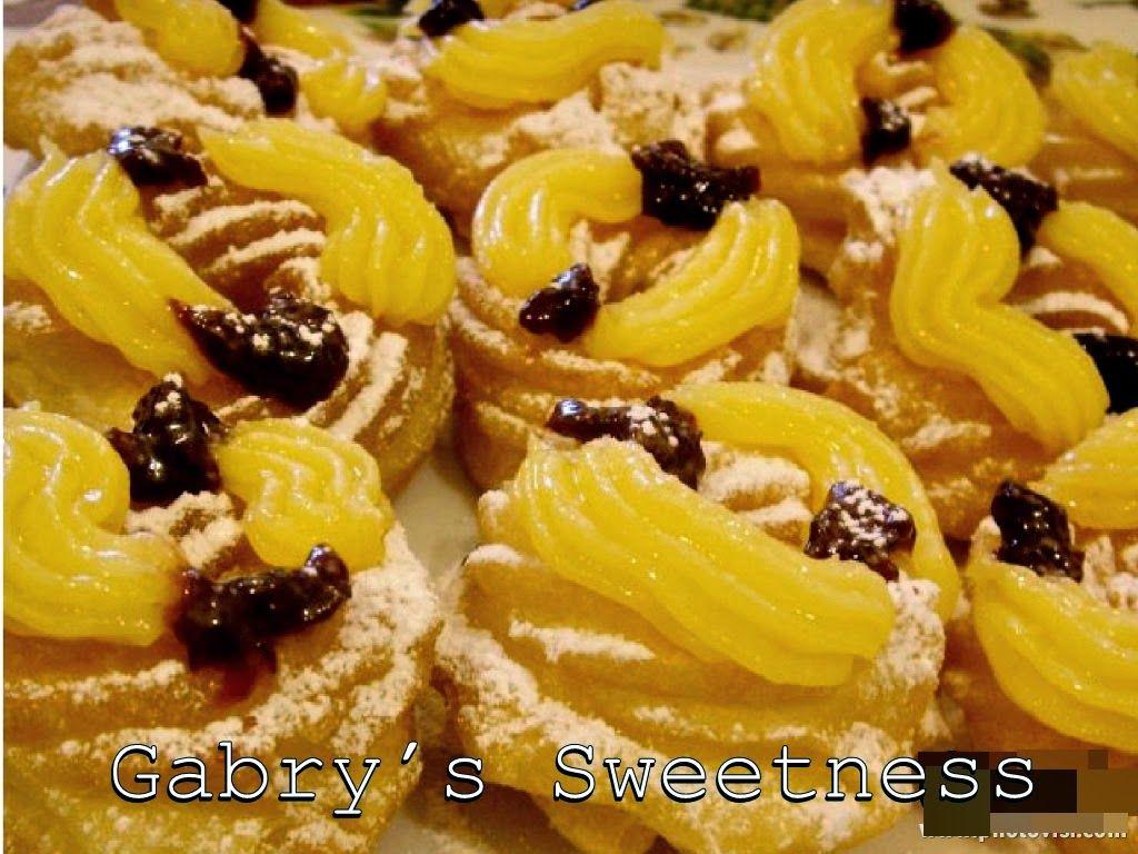 Gabry's Sweetness: LE ZEPPOLE FRITTE con crema pasticcera