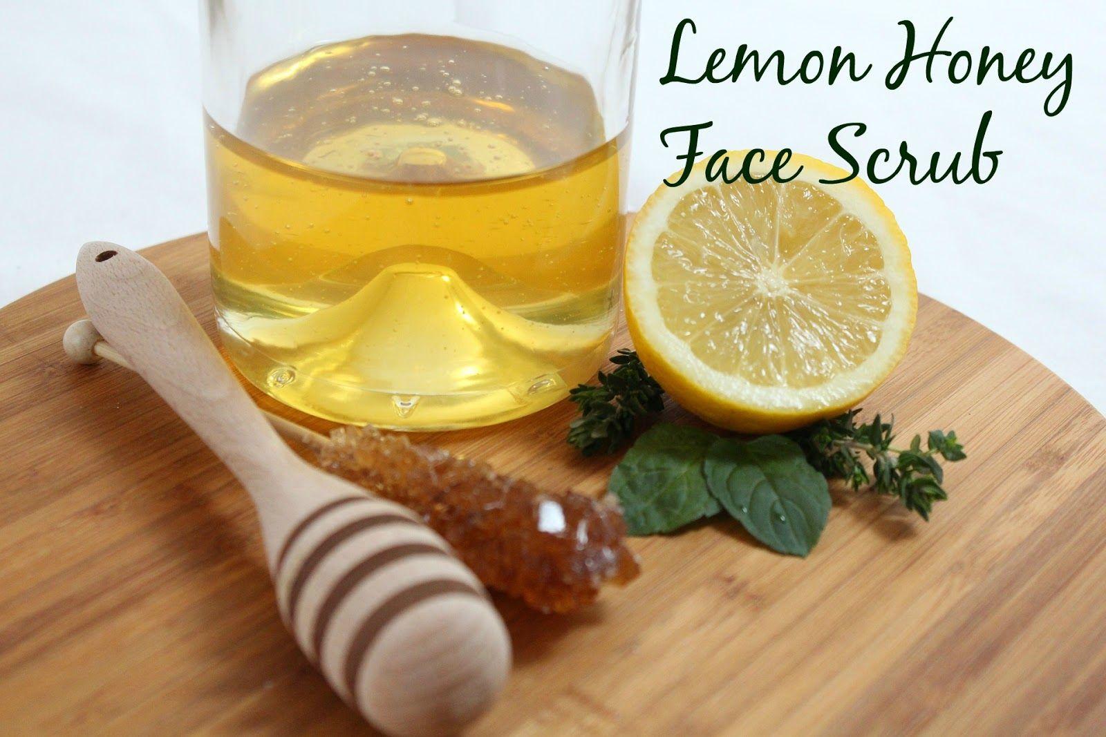 Easy Lemon Honey Face Scrub Recipe Dry cough remedies