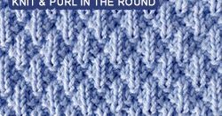 A simple and easy stitch for beginner knitters.. Worked in the round.