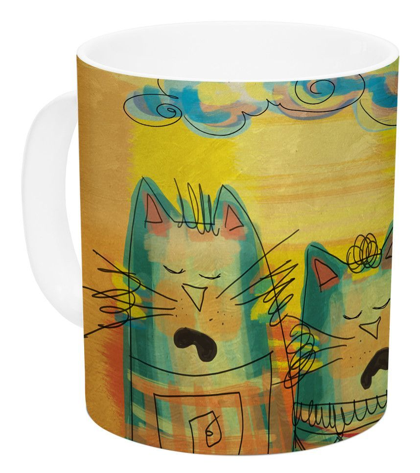 Singing Cats by Carina Povarchik 11 oz. Ceramic Coffee Mug