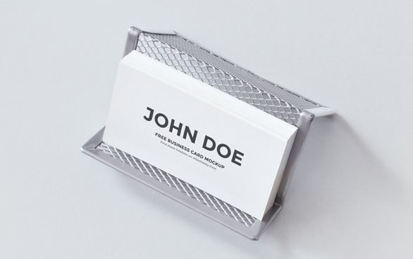 Card holder mockup business cards pinterest mockup business card holder mockup make businessfree colourmoves