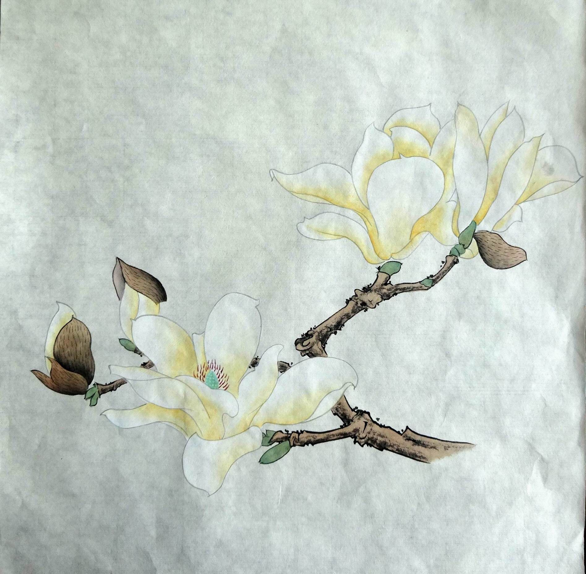 Pin On Asian Flower Paintings