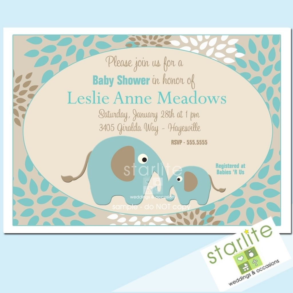 Fascinating Baby Shower Invitation Wording Elephant Theme On Baby