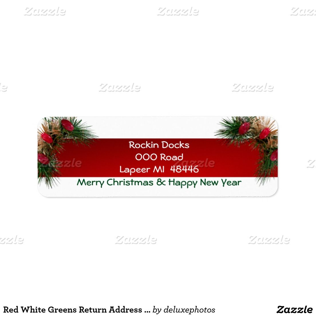 Holiday Candy Stripes Label | Holiday candy
