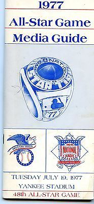 1977 ALL STAR GAME MEDIA GUIDE AT YANKEE STADIUM UNUSED VG CONDITION SEE PICS