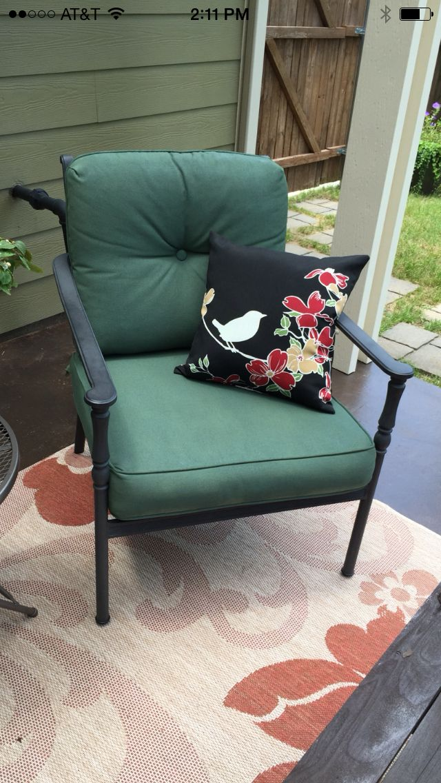 Spray painted the fabric on my outdoor furniture! Thanks