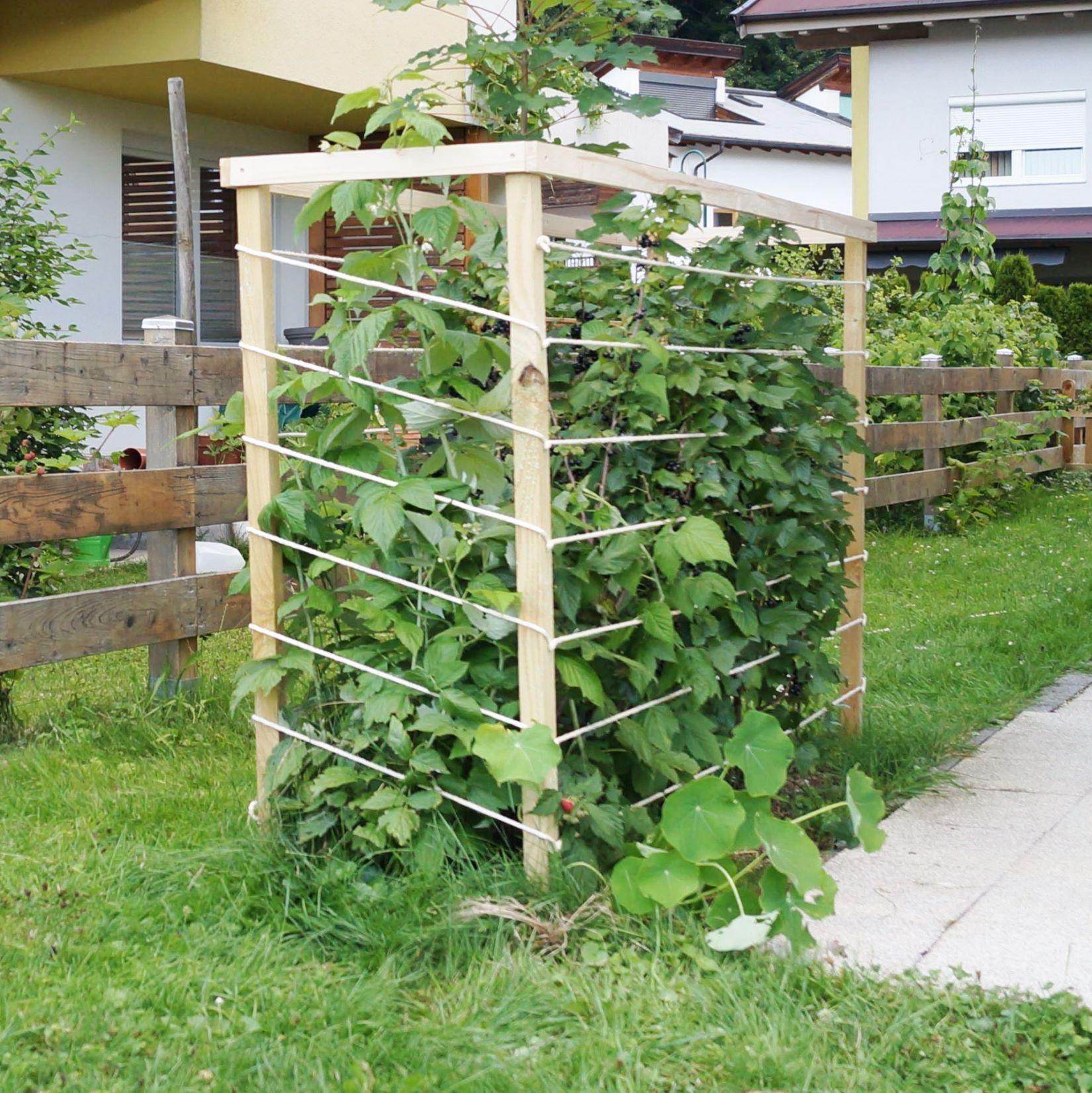 Rankhilfe Aus Holz Und Seilen Diy Rankhilfe Garten Und