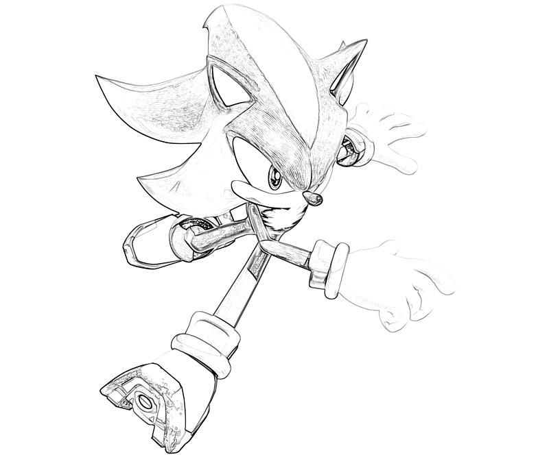 shadow the hedgehog coloring pages | Printable Sonic Generations ...