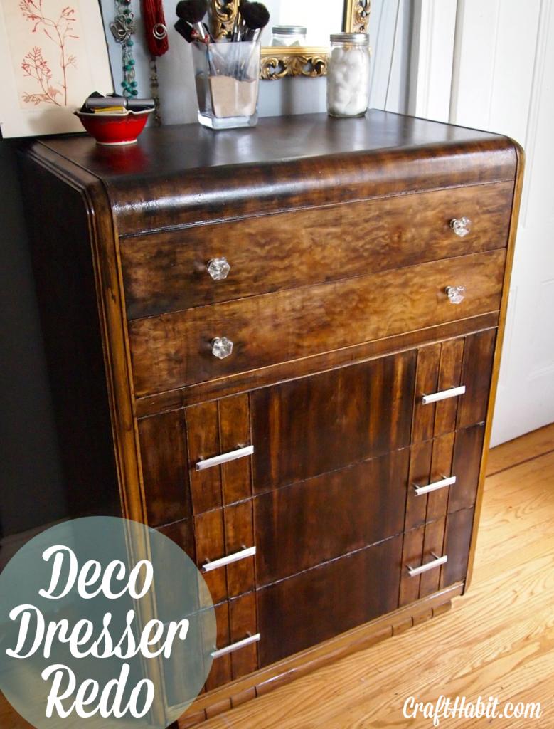 How To Restore An Art Deco Dresser Crafthabit Com Art Deco Dresser Art Deco Furniture Deco Furniture
