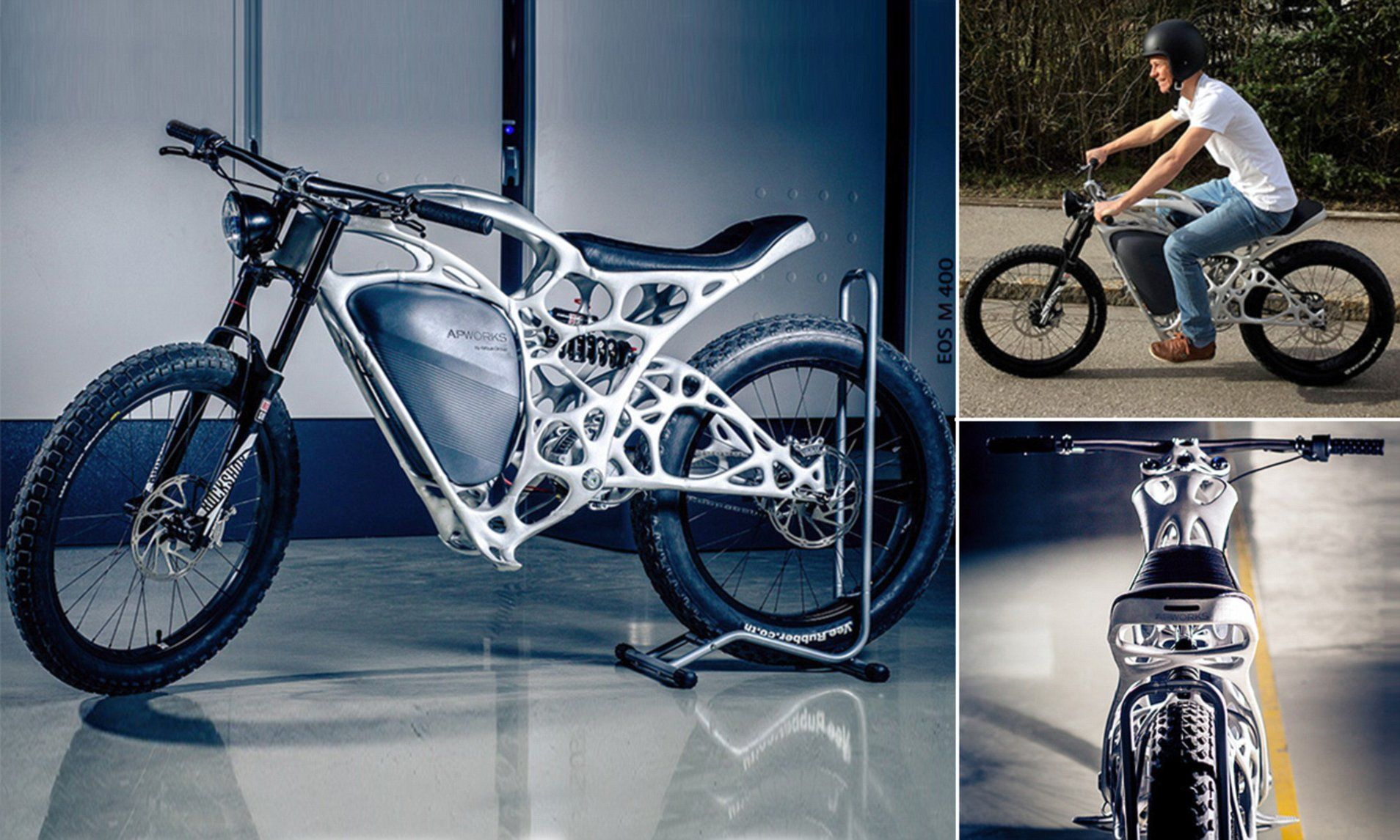 Airbus Unit Unveils 3d Printed Electric Motorcycle Velosiped