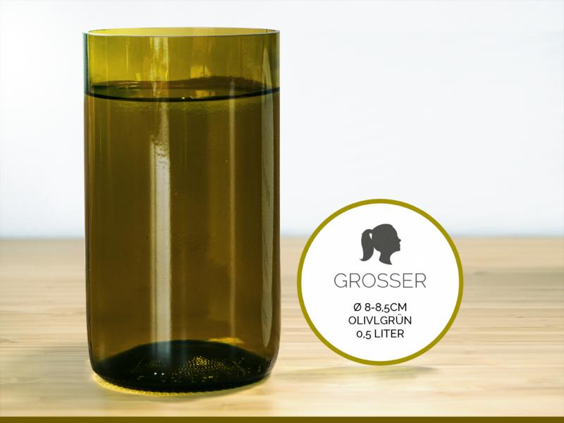 GROSSER / Ø 8-8,5CM / OLIVGRÜN (Glas / Vase) von GLÄSERNE TRANSPARENZ auf DaWanda.com