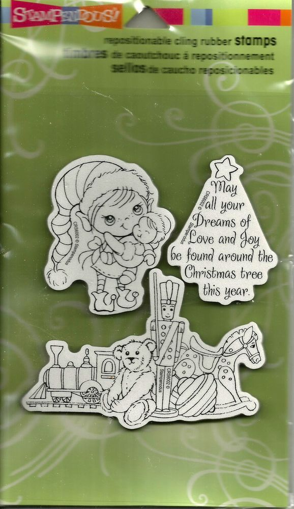 Stampendous Christmas Away in a Manger Cling Rubber Stamps