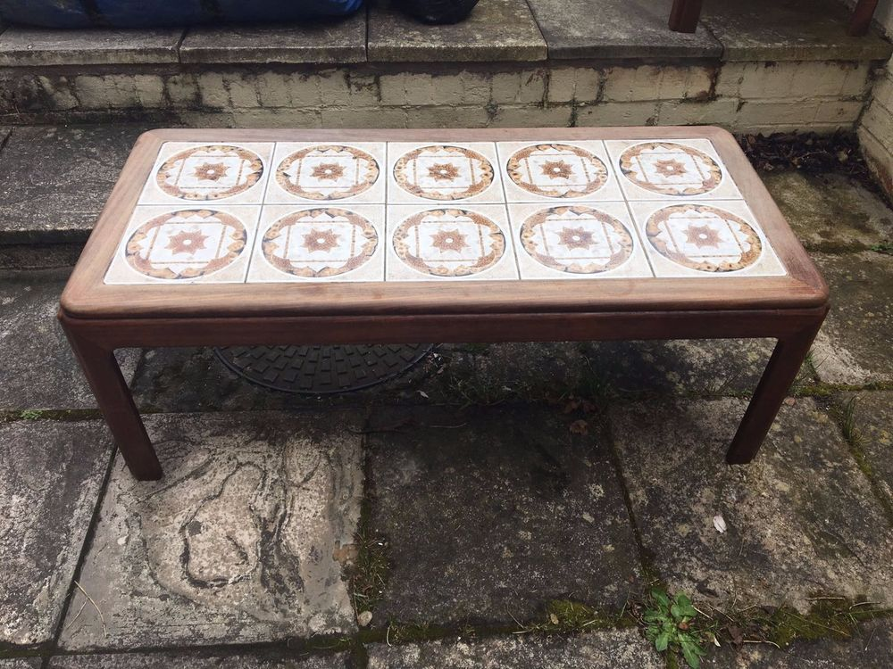 G Plan Vintage 1960 70s Tiled Top Teak Coffee Table Teak Coffee
