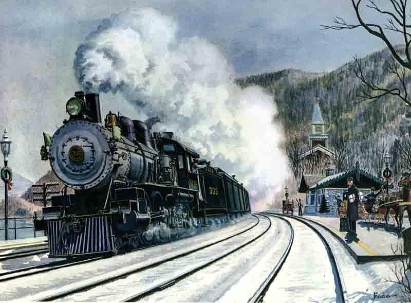 Старые открытки паровозы, поздравительные