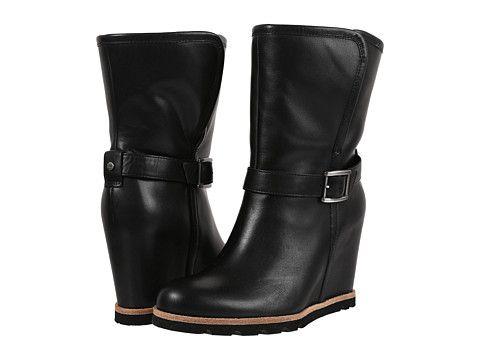 Ugg Ellecia Bootie Boots Black Wedge Boots Black Mid