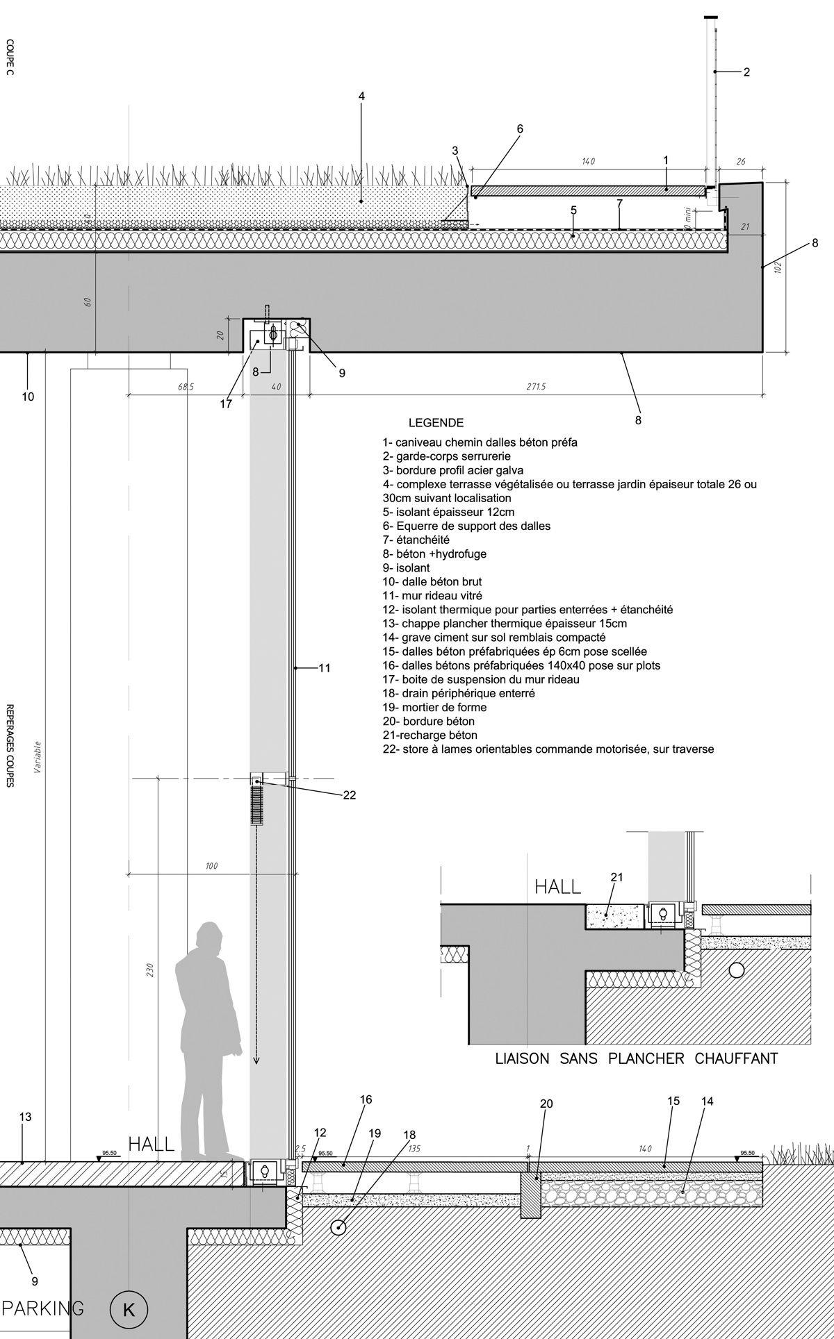 Jean Philippe Pargade S Paris Campus Features Undulating Green Roofs Designboom Architectur Roof Detail Architecture Roof Architecture Architecture Details