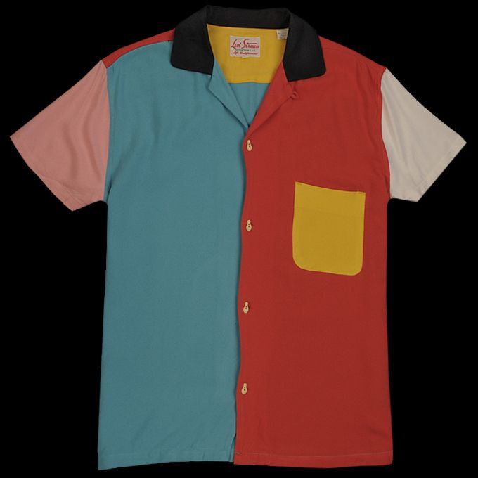 ca639ba3 UNIONMADE - Levi's Vintage Clothing - 1950s Rockets Bowling Shirt in  Multicolor
