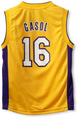 first rate 2b489 b216d NBA Los Angeles Lakers Pau Gasol Youth 8-20 Replica Home ...