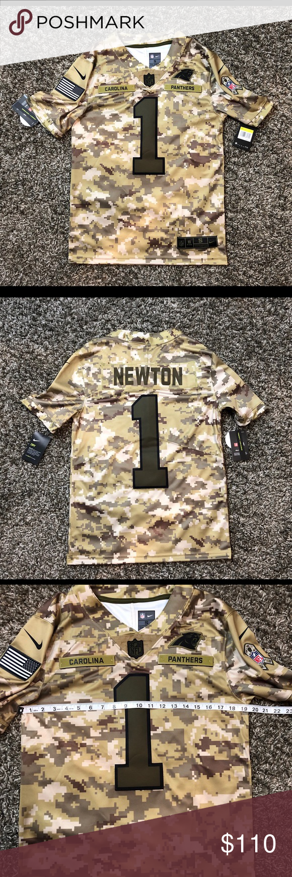 separation shoes dff70 8edf4 Nike Panthers Cam Newton Salute to Service Jersey Nike ...