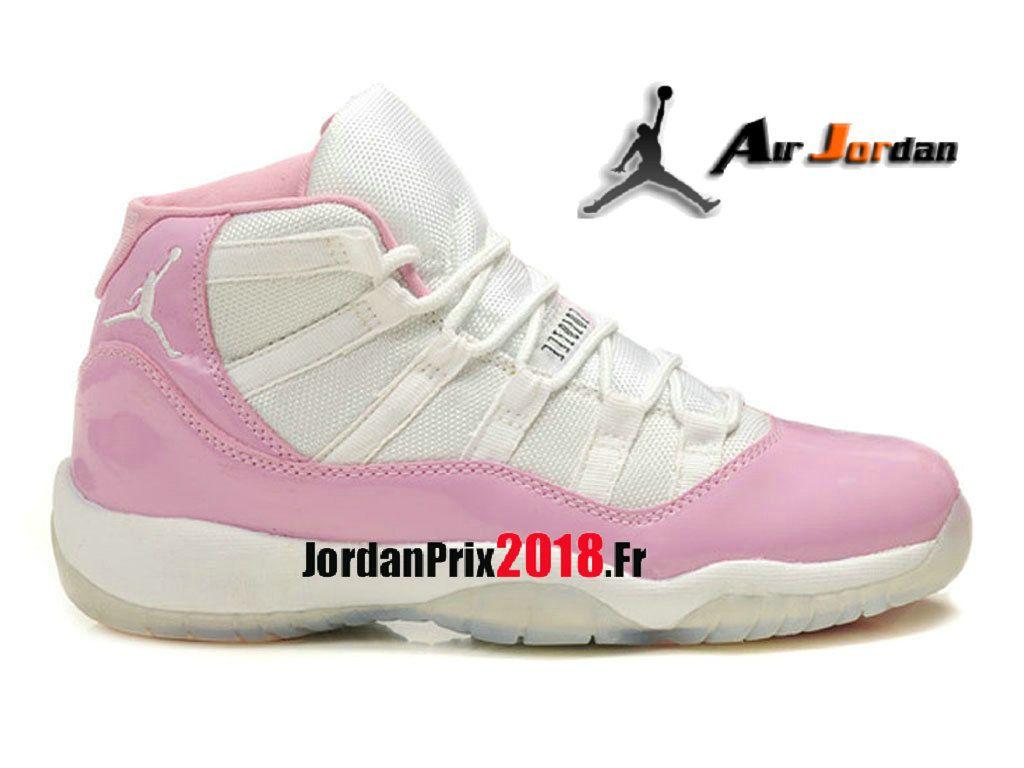 release date: c96c0 be993 Chaussure Basket Jordan Prix Pour Femme Air Jordan 11 XI Retro GS 23 Blanc  Rose 378038