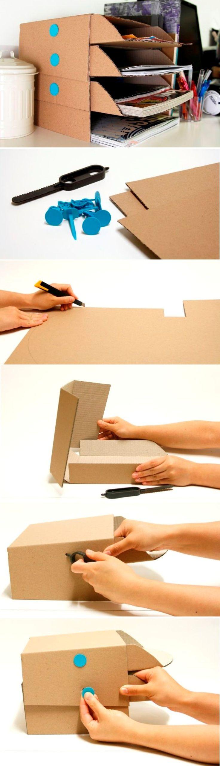 Top 10 Easy And Creative Diy Desk Trays Desk Organization Diy Diy Desk Desk Tray