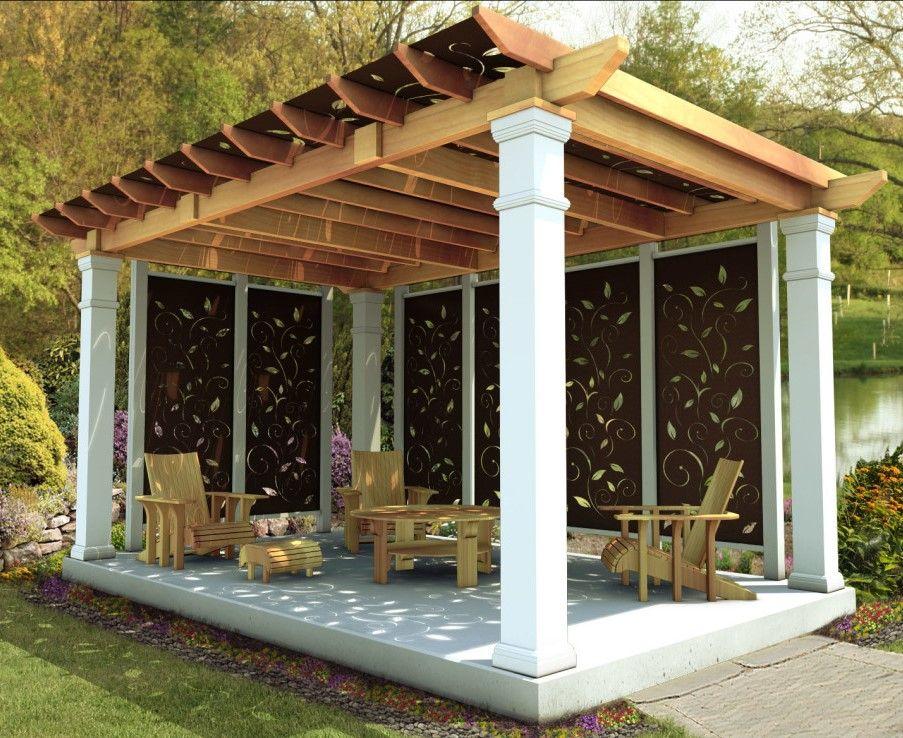 Pergolas Ideas Handsome Outdoor Living Room Design Ideas Come With