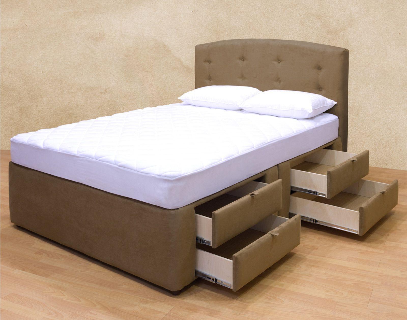 Esmeralda Luxury Bed 8 Drawers Plattform Bett Lagerung Bett Lagerung Selbstgemachte Bettrahmen
