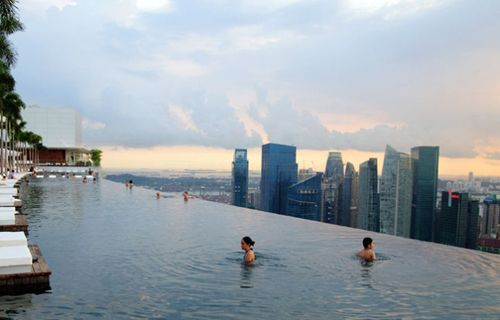 Wow! Infinity Pool Over Singapore