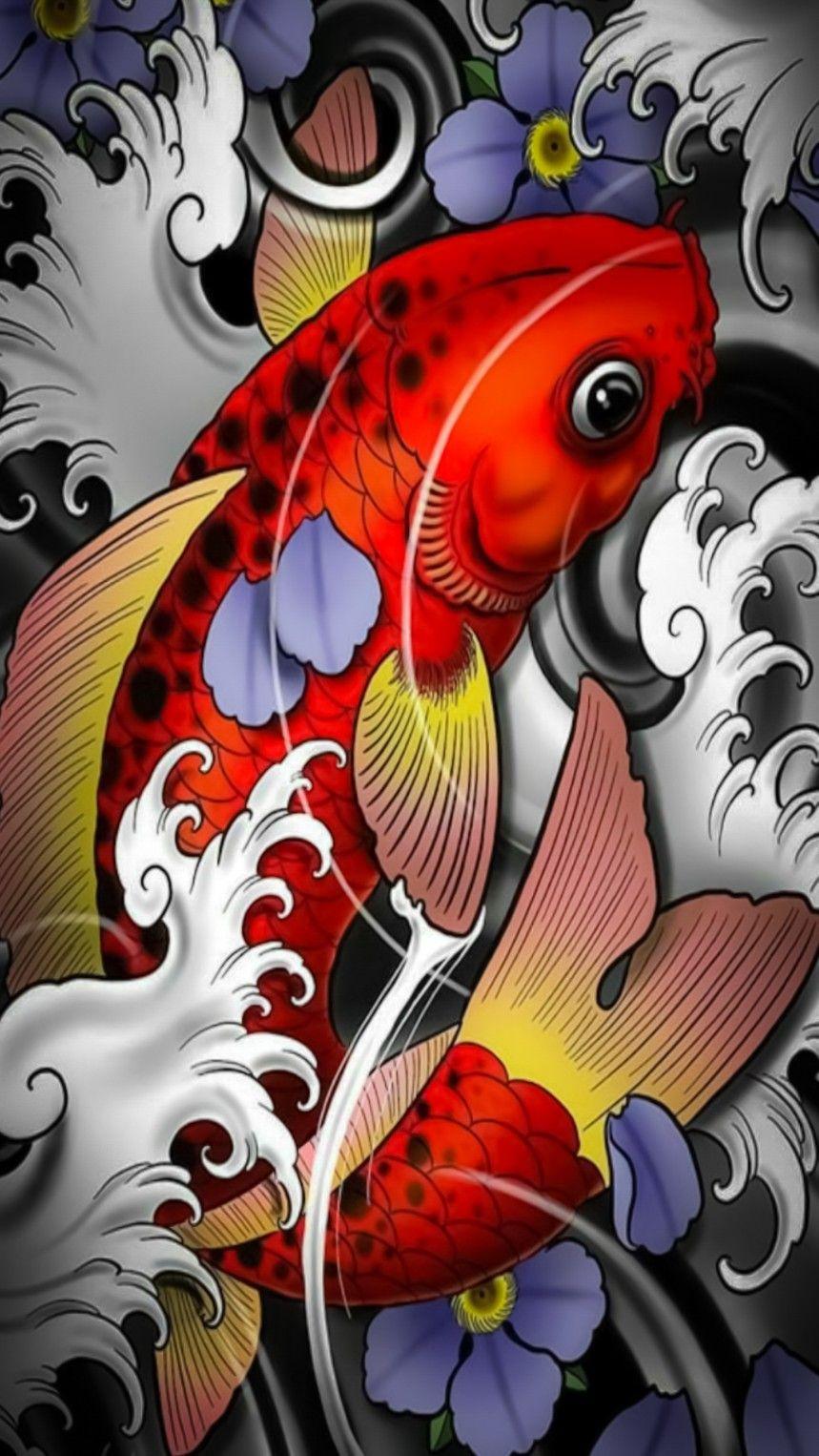 Pin By Marcio Oliveira On Airbrush In 2020 Japan Art Japanese Art Dragon Koi Tattoo Design