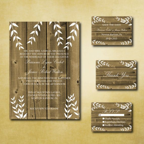 17 Best images about Wedding Invites – Free Printable Rustic Wedding Invitations